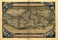 1500 1599 Date Range Antique World Maps Atlases Ebay