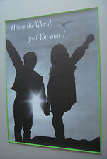 Vintage Poster Above the World You and I 1970 Small World People #6 Love Couple