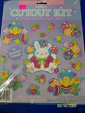 Easter Egg Chick Bunny Party Vinyl Cutout Classroom Wall Decoration Kit
