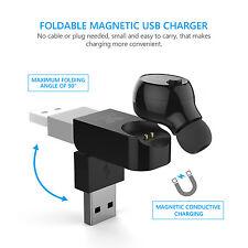 SAVFY MINI Casque Ecouteur Bluetooth Sans fil+Station de Recharge USB magnétique