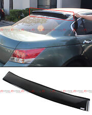 For 2008-2012 8th Gen Honda Accord Sedan JDM Rear Window Roof Visor Spoiler Wing