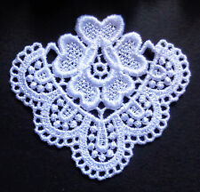 Venise Applique, 3 x 2+5/8 inch white color price for 1