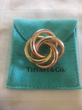 Vintage Tiffany & Co 14K Yellow & Rose Gold Infinity Love Knot Large Pin Brooch