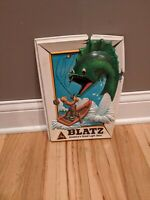 Rare 1975 Heilemans Blatz Beer Fishing Sign Plastic Vintage Advertisement Fish