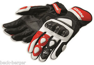Ducati Spidi Sport C2 Racing Leather Gloves Red New
