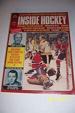 1971 INSIDE HOCKEY Montreal Canadians KEN DRYDEN Richard BOSTON BRUINS Esposito