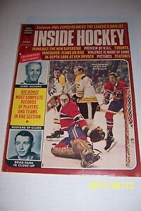 1971 INSIDE HOCKEY Montreal Canadians DRYDEN Henri BOSTON BRUINS Phil Esposito