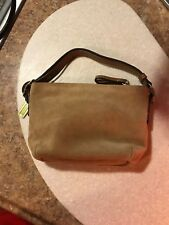 COACH Mini Duffel Small Suede & Leather Hobo Bag Camel Suede! Great Condition!