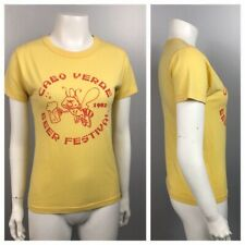Random Threadbare T Shirt / Cabo Verde Beer Fest Novelty T Shirt / Small