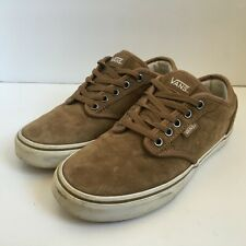 VANS Trainers Plimsolls Brown Suede Leather Womens Size UK 4.5 Casual Lace Up