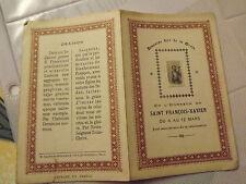 Image religieuse 4 pages neuvaine dite de la grace st francois xavier