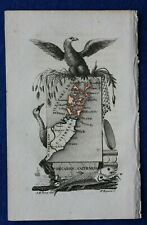 SCOTLAND, ORKNEY, KIRKWALL, CAITHNESS, minature antique map, Perrot, 1824