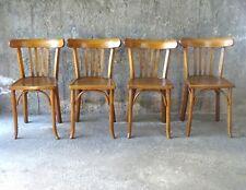 Set de 4 chaises Bistrot Baumann 1950 assise bois no Thonet  *