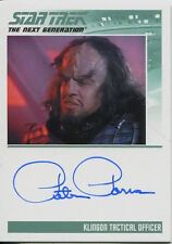 Star Trek TNG Portfolio Prints Series 2 Autograph Card Peter Parros as Klingon