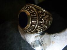USA HIGH SCHOOL HONOR RING 585er Gold Lapis Lazuli 1973 Ultra Heavy