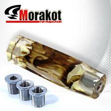 Auto M8x1.25,M10x1.25,M12x1.25 150MM VIP AT/MT Crystal Fusion Shift Knob Cream