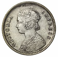 British India 1885-B Queen Victoria Silver 1/4 Rupee KM#490