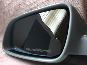 3 x AUDI Quattro wing mirror frosted car stickers/decals