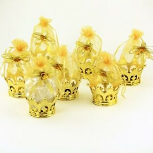 12 Gold Crown Baby Shower Decoration Party Favors Royal Prince Princess Birthday