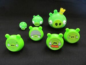 Angry Birds Knock On Wood Game Replacement Parts Pieces Lot of 7 Pigs