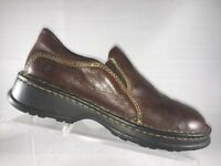 BOC Born Womens Loafers Sz 7.5 M Clogs Slip On Shoes 38.5 Brown Leather
