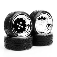 4Pcs Flat Drift Tires Wheel 12mm Hex 292&107 For HPI HSP 1:10 RC On-Road Car