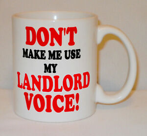 Don't Make Me Use My Landlord Voice Mug Can Personalise Pub Manager Bouncer Gift