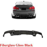 Rear Bumper Diffuser Lip Fit for BMW F10 535i 550i M Sport 12-16 Glossy Black