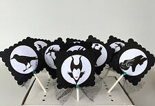 Maleficent Cupcake Toppers, cake decor/ party supplies  SET OF 10