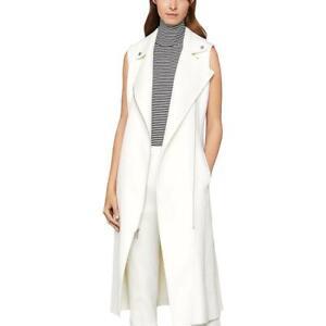 BCBGMAXAZRIA Womens Iris Sleeveless Long Moto Vest Coat BHFO 2092
