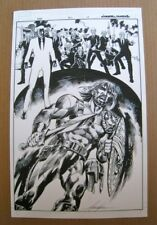 Marvel Comics Hercules original splash page art by Mike Grell & Jason Paz signed