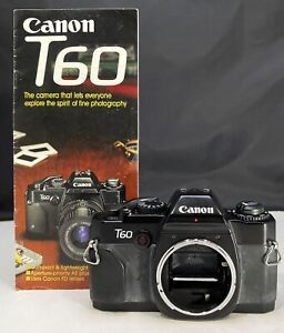 Canon T60 35mm Film SLR Camera Body Only Tested New batteries A+