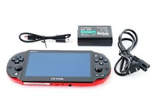 Sony PS Vita Red Black Slim PCH-2000 Limited w/ Charger From Japan [Excellent +]