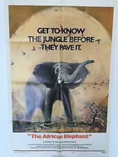 """""""THE AFRICAN ELEPHANT""""  ORIGINAL 1971 DOCUMENTARY  ORIGINAL MOVIE POSTER"""