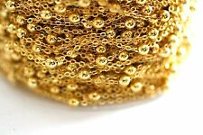 32ft 2x2m Brass Gold Ball Chain-Cable Chain links-soldered 1-3 day Ship