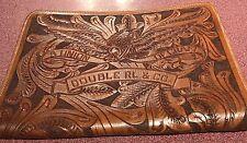RRL Tooled Leather Eagle Padfolio Portfolio Folio Document Ralph Lauren Polo