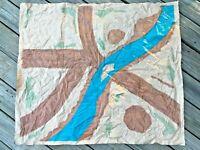 Vintage 1963 Original Marx WWII Battleground Desert Fox Large Plastic Play Mat