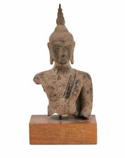 Thailand 16/17. Jh. Büste - An Ayuthia Bronze Bust Of Buddha - Bouddha Thaïlande