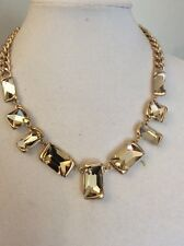 $68 Kenneth Cole Fringe Worthy Faceted Stone Necklace #121C