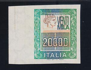 """Italy Sc 1297, Sasone 1462Bb, MNH. 1987 20,000L """"Italia"""" imperf ERROR, Cert."""