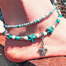 Barefoot Ankle Bracelet Foot Leg Chain Silver Starfish Charm Women Beach Jewelle