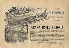 Stampa antica pubblicità GRAND HOTEL VICTORIA Mesocco 1899 Old antique print