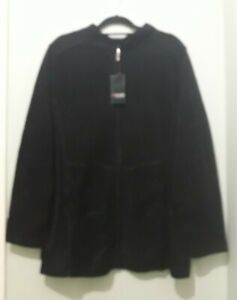 NEW with TAGS - YOURS Size 16 Black Fleece Jacket / Coat