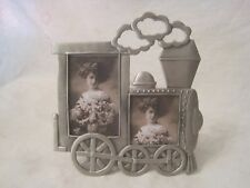 train photo frame double photographs photos locomotive engine picture ornate