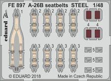 Eduard Zoom FE897 1/48 Douglas A-26B Invader seatbelts STEEL Revell