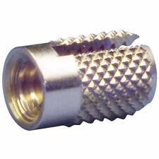 Solid Brass 10-32 Press-in Threaded Insert, Knurled, bag of 25, NEW item!