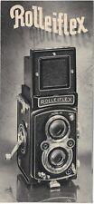 1950s Rolleiflex Camera  Brochure