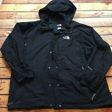 THE NORTH FACE HYVENT Hooded VTG Jacket Shell ANORAK XXL Lined Windbreaker