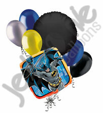 7 pc Batman In Action Balloon Bouquet Party Decoration Happy Birthday Super Hero
