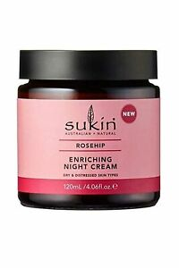 Sukin Rosehip Night Cream Enriching Paraben Free 120ml for Dry Skin